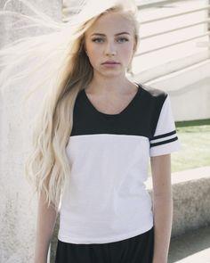 Emma's Black and White Top – Pearl Yukiko
