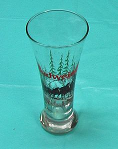 Budweiser Beer Clydales Christmas VTG Glass  Collectible Collector Barware Lager