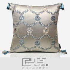 匠心宅品 法式新古典样板房/软装靠包抱枕 玫瑰提花方枕(不含芯