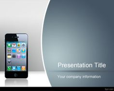 free mobile device powerpoint template with white background and, Presentation templates