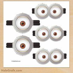 Gafas u Ojos de Minions y Anti Minions para Imprimir Gratis.   Ideas y material gratis para fiestas y celebraciones Oh My Fiesta!