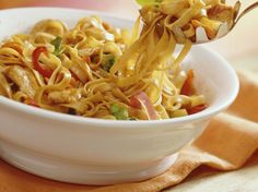 Your family and friends will be captivated by this delicious toss of fettuccine, vegetables and hoisin sauce.