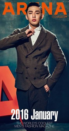 A-Awards Winner Yoo Ah In is A Hot Gentleman in The First 2016 Arena Homme's Cover & Pictorial   Yoo Ah In SikSeekLand    #yooahin