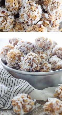 These Coconut Rice Krispies® Date Balls are a bite-sized treat that's perfect for sharing with friends and family. Combine the crunchiness of Rice . - Coconut About Date Ball Recipes With Rice Krispies, Recipes With Rice Cereal, Bite Size Desserts, Easy No Bake Desserts, Carré Rice Krispies, Coconut Date Balls, Date Recipes Healthy, Rice Crispy Treats, Krispie Treats