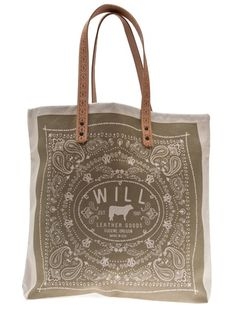 WILL LEATHER GOODS Bandana Carry All Canvas Tote Bag