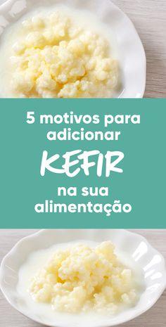 O kefir é um alimento probiótico utilizado especialmente para fermentar leite, dando origem a uma bebida fermentada, que se chama de kefir de leite. Kombucha, Beneficios Do Kefir, Kefir Yogurt, Healthy Tips, Healthy Recipes, Kefir Recipes, Natural Yogurt, Keto, Food Hacks