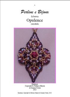 Tutorial fotografico Ciondolo Opulence (file .pdf) currently only in Italian, but English is promised soon...