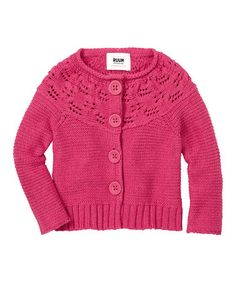 Take a look at this Electric Pink Chunky Cardigan - Infant & Toddler by RUUM on #zulily today!