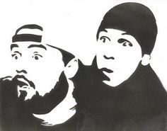 Jay and Silent Bob stencil template