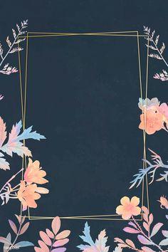 Flowery Wallpaper, Flower Background Wallpaper, Flower Phone Wallpaper, Watercolor Wallpaper, Frame Background, Cute Wallpaper Backgrounds, Flower Backgrounds, Cute Wallpapers, Instagram Background