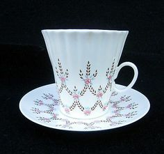 RUSSIAN LOMONOSOV COFFEE CUP AND SAUCER PORCELAIN SET