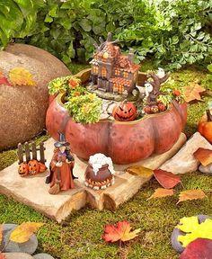 Halloween Decorations Witch Halloween Mini Garden Indoor Halloween Decorations…