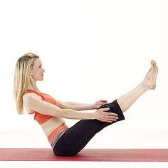 The best yoga move for flattening your belly is the boat pose, which challenges the stabilizing muscles within your core. | Health.com