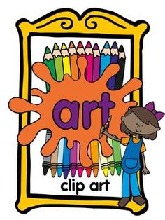 Art classroom clip art   more than 100 images!  Download the preview and get FREE paint palette and paintbrush images