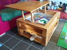 Coffee Table Desk. The center also acts as a great hiding spot.