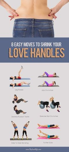 8 Easy Moves to Shrink Your Love Handles and Belly Fat