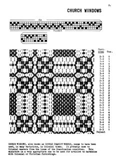 Original Miniature Patterns for Hand Weaving, Part II - Weaving Digital Archive Item - Handweaving.net Hand Weaving and Draft Archive