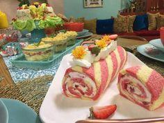 Bûche glacée aux fraises Danette, Biscuits, Mojito, Tacos, Cake, Ethnic Recipes, Desserts, Teaching, Tv