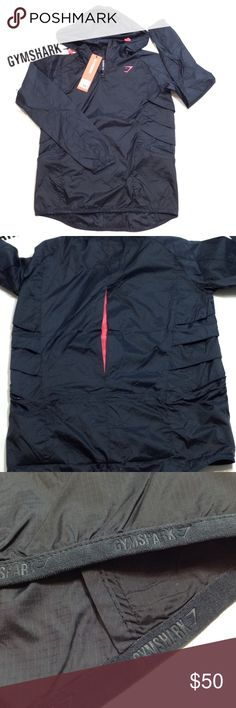 """Gymshark Tempest hi lo pullover running jacket Ultra lightweight with wind resistant shell ( I don't know exactly what that means, but it's in the product description! 😂 ), but like their shorts-it has surprises! Toggles INSIDE the pockets cinch the back waistline! (pics 6&7) and has gill like ventilation slits on sides! Shirttail hem, 28"""" sleeves from side neckline, 24-26"""" length from back neckline, 19"""" pit to pit. Adjustable toggled hoodie. GYMSHARK Jackets & Coats"""