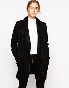 Minimum – Mantel mit asymmetrischem Reißverschluss