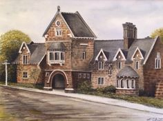 Bell Inn, Finedon, Northamptonshire one of the oldest licensed inns in England. Watercolour by K. Austin 1984 from an old black & white photo owned by Lizzie Austin of the Gate Inn, Finedon. Painting owned by the Griggs family