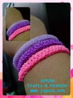 Inverted Oh! Loombands neon purple love it!