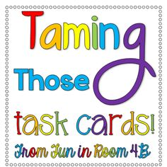 Ideas for organizing and storing task cards.