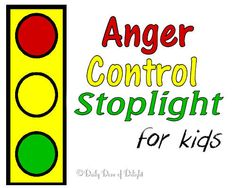 Anger Control Stoplight for Kids