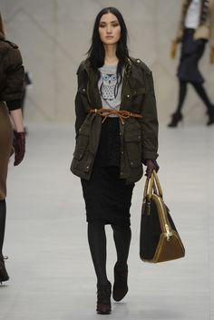 Lina Zhang in Burberry Prorsum RTW Fall 2012