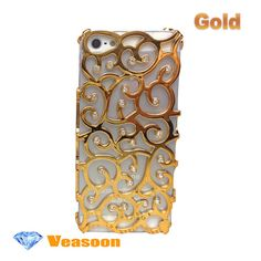 Gold iphone 4 casehollow out iphone 4 case best iphone by Veasoon, $16.99