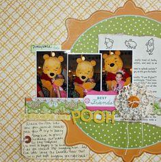 Pooh Disney scrapbook layout