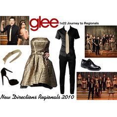 """""""New Directions (Glee) : Regionals 2010"""" by aure26 on Polyvore"""