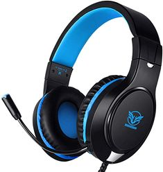 Amazon.com: Karvipark H-10 Gaming Headset for Xbox One/PS4/PC/Nintendo Switch|Noise Cancelling,Bass Surround Sound,Over Ear,3.5mm Stereo Wired Headphones with Mic for Clear Chat Ps4 Gaming Headset, Gaming Headphones, Best Headphones, Karaoke Party, Surround Sound, Nintendo Switch, Bass, Bluetooth, Smartphone