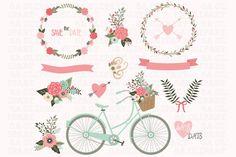 Wedding Invitation Clipart by SA ClipArt on Creative Market