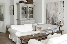 griege, grey, white living room
