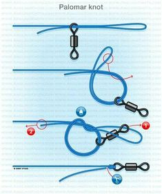 Carp fishing knots : Palomar knot Easiest knot in the game and in my eyes one of the best as long as you wet it before sinching Fishing Hook Knots, Fly Fishing Tips, Fishing Rigs, Sport Fishing, Gone Fishing, Carp Fishing, Saltwater Fishing, Walleye Fishing, Fishing Tackle