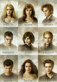 Nikki Reed Elizabeth Reaser Jackson Rathbone Kellan Lutz Ashley Greene Peter Facinelli Taylor Lautner Kristen Stewart & Robert Pattinson