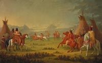 Horse Race among the Blackfoot Indians. Painted by Paul Kane, a Canadian artist, 1846. Courtesy of The National Gallery of Canada.