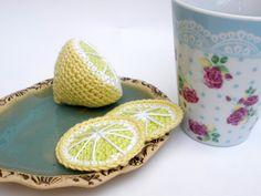 Lemon Toy Play Food Knitting Amigurumi Food Play Kitchen Play Set. $14.00, via Etsy.