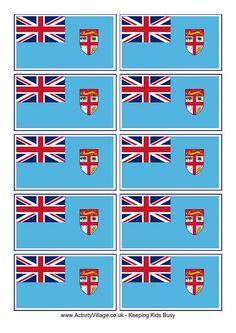 Fiji flag printable