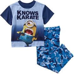 Despicable Me Boys' License 2 Piece Poly Jersey Pajama Set