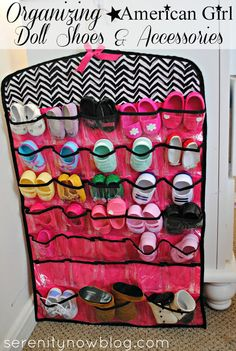 Storage Tips & Ideas for American Girl Doll Accessories. Store shoes in a jewelry organizer. Idea rrom Serenity Now Storage Tips & Ideas for American Girl Doll Accessories. Store shoes in a jewelry organizer. Idea rrom Serenity Now American Girl Storage, American Girl Doll Shoes, American Girl Accessories, Doll Accessories, Cosas American Girl, American Girl Crafts, American Girls, American Girl Stuff, American Girl Birthday