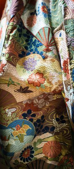 ** Gorgeous kimono fabric