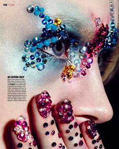 🔮 Marie Claire Swarovski Crystal Makeup Manicure Beauty Editorial Shoot with model Maria Kalinina🔮