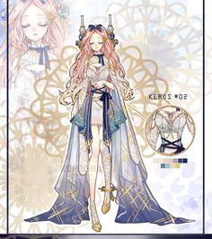Adoptables by Rurucha on DeviantArt Female Character Design, Character Creation, Character Design Inspiration, Character Art, Anime Fantasy, Dark Fantasy Art, 1 Gif, Anime Dress, Anime Princess