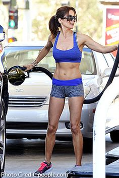 Brooke Burke-Charvet Talks About That Sexy Gas-Pumping Photo and what it takes to look fit at Body Inspiration, Fitness Inspiration, Workout Inspiration, Brooke Burke, Celebrity Diets, Skinny Motivation, Mommy Workout, Gym Body, Wild Style