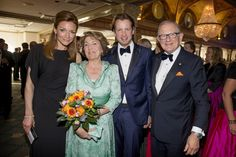 Princess Margriet, Princess Aimée, Peter van Vollenhoven and Prince Floris looking happy as they attend the annual 'Night of the Stars' gala on Monday.