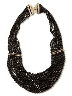 #BRAnnaK #BananaRepublic | Deco layered bead necklace