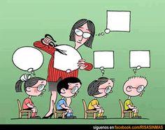 Aprendizaje uniforme. Todos los niños piensan igual.