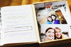 Cigar box scrapbook - I want to make one of these for my daughter
